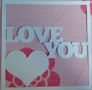 Valentines card paper cut