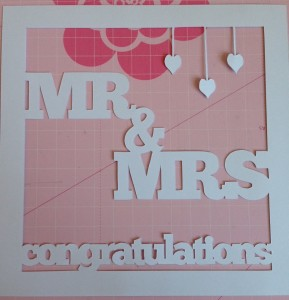 Wedding Day paper cut